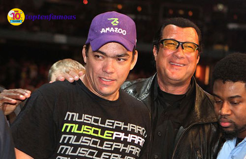 UFC champion Lyoto Machida (left) also couldn't fight the actor's hand-to-hand