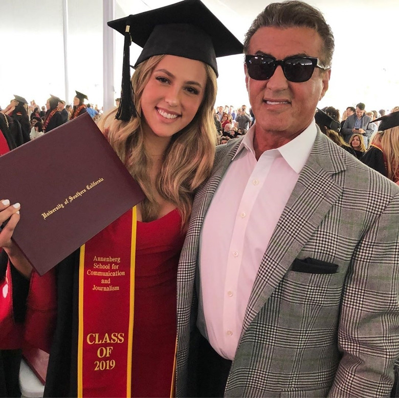 3 Beautiful Daughters of Sylvester Stallone